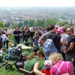 Weinlagenwanderung, Rast am Bensheimer Kirchberg