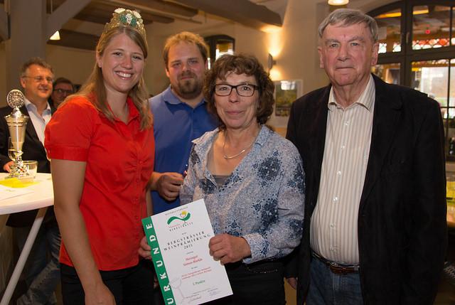 Gebietsweinkönigin Caroline I., Johannes Bürkle, Dagmar Simon, Stadtrat Zwbg. Wolfgang Sauer