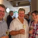 Christa Guth (Mi.) mit Alex und Dagmar Pfau (Wgt. Lohmühle)